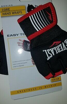 Everlast Boxing Core Hand Wraps, Black Size S/M NEW Model # P00002178