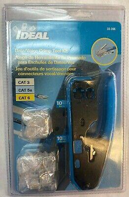 Ideal 33-396 Datavoice Modular Plug Crimp Tool Kit - New