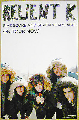 RELIENT K rare promo POSTER 2007 Five Score Seven Years Ago Tour - 11x17 2-SIDED