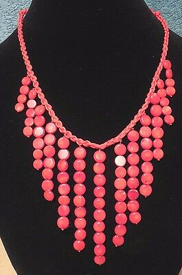 - Necklace of Natural Red Sea Coral 20-1/2
