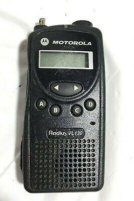 Motorola Radius Vl130 Aah49rcf8aa1av Portable Two Way Radio