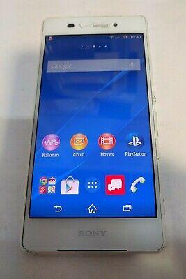 Sony Xperia Z3v 32GB(D6708)-White-Verizon Unlocked-Fully Functional-See Below