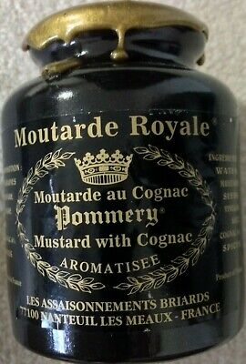 Mustard - Moutarde Royale Mustard with Cognac - Sealed Jar - French NEW