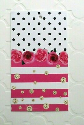 200 Hang Tags Accessories Tags Cute Pink Roses Tags Clothing Tags Booth Tags