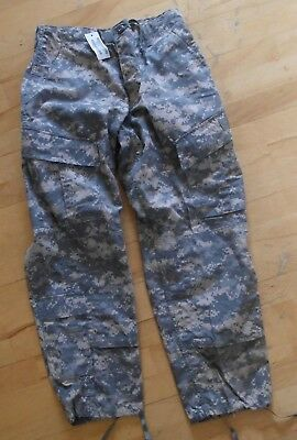 USGI Army ACU Digital BDU Combat Pants Flame Retardant Size Small X Short NWT
