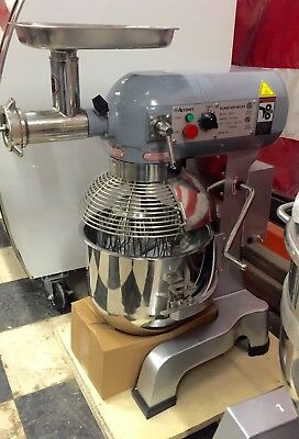 20 Quart Qt Mixer Adcraft Pm-20 Meat Grinder 20qt 3 Speed Gear Driven 12 Hub