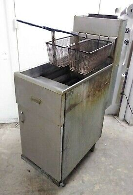 Pitco Frialator 40s Commercial Natural Gas Fryer Economy 40-45 Lb. Oil Capacity