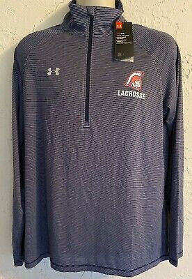 Under Armour Womens Loose Black 1/2 Zip Pullover XL Trojan Lacrosse free shippin for sale  Shipping to Nigeria