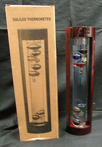 """15"""" Wooden Cased Galileo Thermometer"""