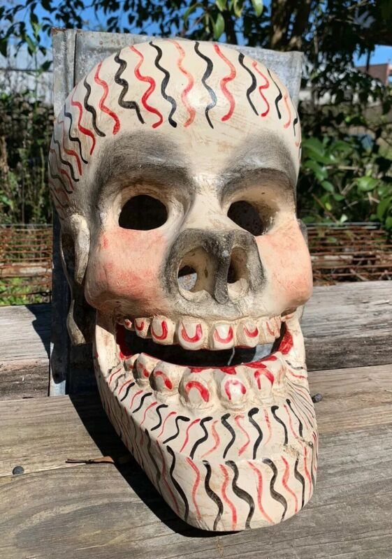 Authentic Tribal Mask Aka Ritual Mask Mexican