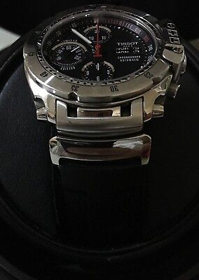 Tissot Chronograph Swiss Sport Watch Automatic T-Race Day-Date Ltd Black