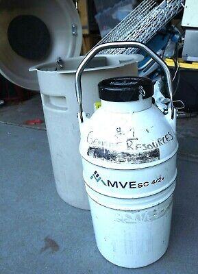 Mve Sc 42v Liquid Nitrogen Vapor Cryogenic Shipper Container With Case