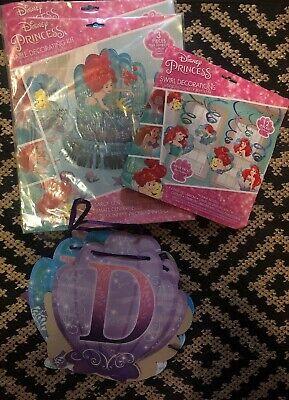 Disney Princess Birthday Party Decor-3 Brand New Sets+happy Bday Hanging Sign](Bday Signs)
