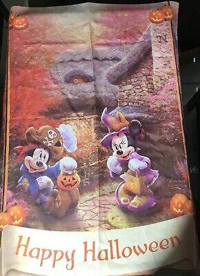 Photos Disney Halloween (Happy Halloween Mickey Minnie Mouse Photo Thomas Kinkade 28x40 Flag Disney)