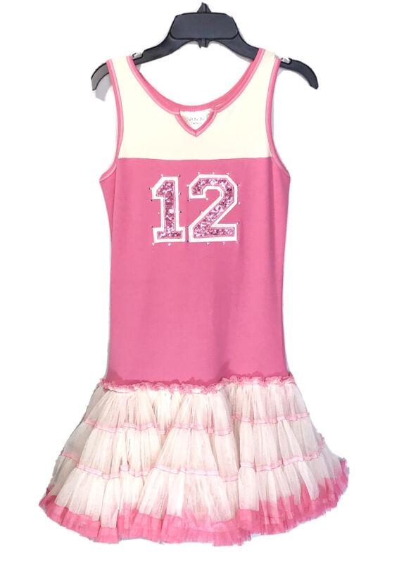 Ooh La La Couture Girls Pink Tulle Sequin Petticoat Dress Size 12 Party