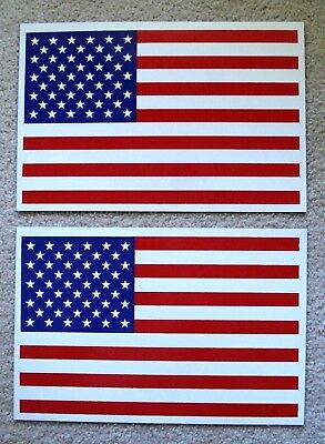 (2) AMERICAN US FLAG 100% MAGNETIC SIGNS - 8