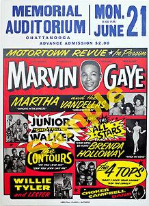 Stunning Marvin Gaye/Vandellas+more vintage concert Poster Print