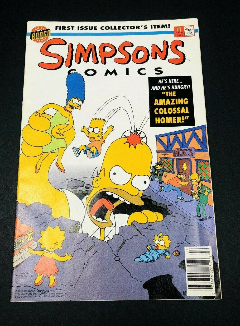 SIMPSONS COMICS #2 NEAR MINT SIDESHOW BOB 1st SERIES 1993