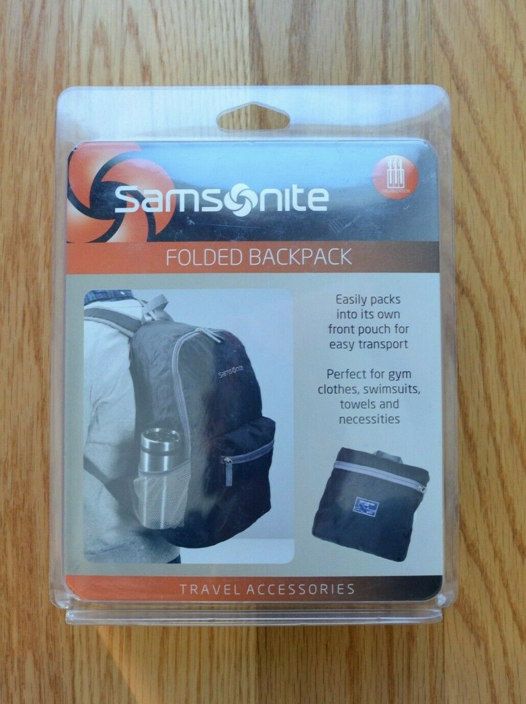 Samsonite Folded Backpack W/Pouch Emergency Travel 86550-1041 NEW - $19.00