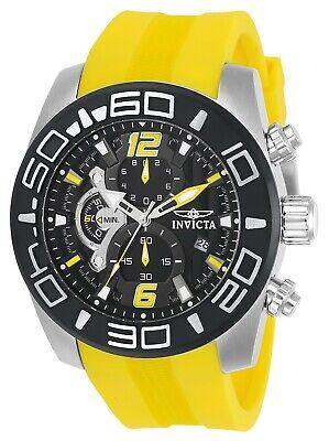 Invicta Men's Pro Diver 22808 50mm Black Dial Silicone Chronograph Watch