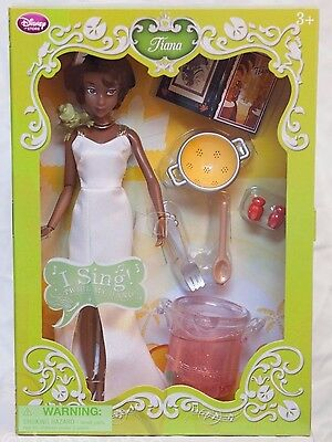 Disney Store Tiana Deluxe Singing Doll Nib  Princess And The Frog