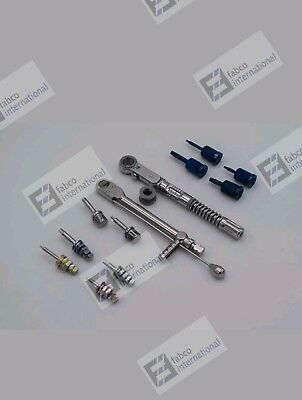 Dental Implant Torque Wrench Ratchet 10-50 Ncm 10-70 Ncm With Hex Hand Drivers