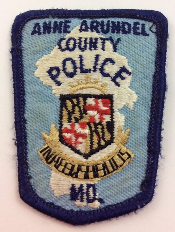 Vintage Anne Arundel County Maryland Police Department Cap Hat Patch