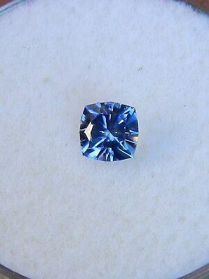 Benitoite: VVS, square cushion gemstone .48 ct