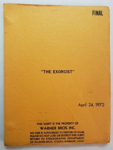 THE EXORCIST / William Peter Blatty 1972 Screenplay, teenage girl is possessed