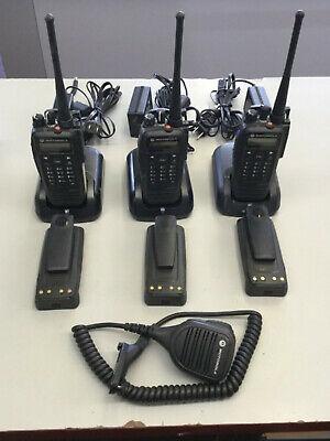 Motorola Xpr6550 Uhf Digital Dmr Mototrbo Set Of 3 Radios Good Waccesories