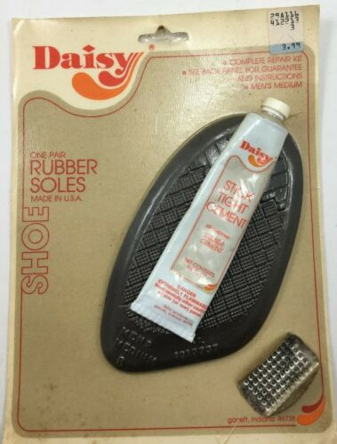 Daisy, Complete Shoe Repair Kit, One Pair Rubber Soles, Vintage, Hard to Find.