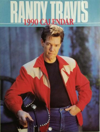 Randy Travis 1990 Calendar 12 Month Photos - Unused - Near Mint