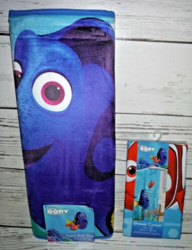 Disney Pixar Finding Dory Bath Shower Curtain & Bath Rug