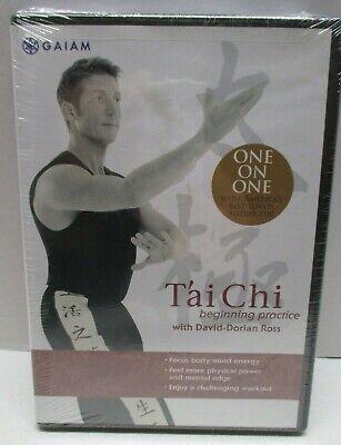 Tai Chi for Beginners (DVD, 2004) Sealed Minor Wear Gaiam David Ross