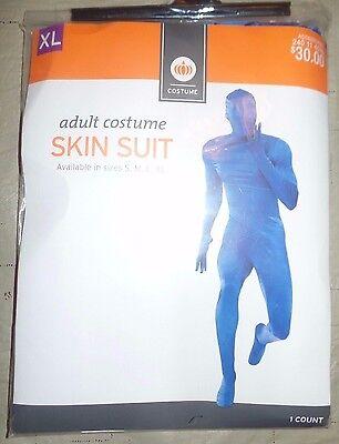 mens NEW NIP SKIN SUIT ADULT BLUE HALLOWEEN COSTUME LARGE morph NICE @@](Morph Suites)