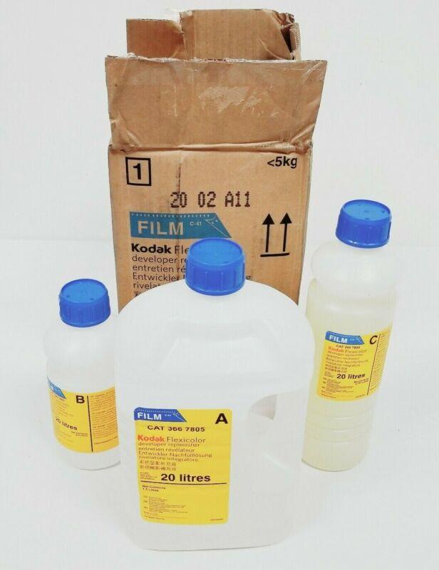 Kodak Flexicolor Film Developer Kit CAT 366 7805 A B C Makes 20 Liters New