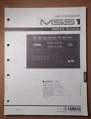 Original Yamaha MSS1 MIDI Synchronizer SERVICE Manual for sale  Shipping to India