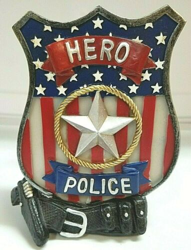 POLICE OFFICER DESK LAMP BEDROOM HOME DECOR HERO SAFETY NIGHT LIGHT