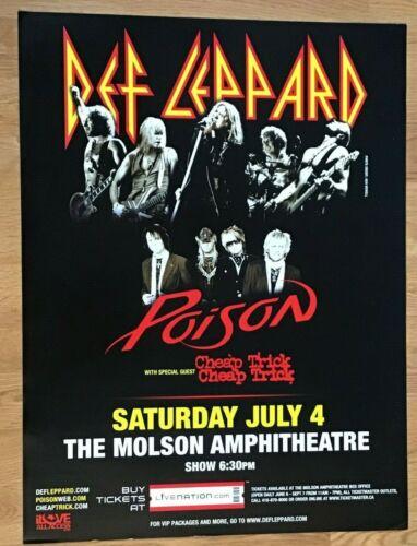 Def Leppard-Cheap Trick-Poison-Tour-Molson Amphitheatre Poster-2009-18x24-Canada