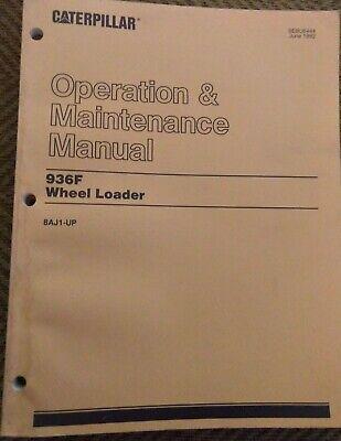 Cat 936f Wheel Loader Operation Maintenance Manual Sebu6444 8aj1 Caterpillar