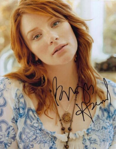 Bryce Dallas Howard SIGNED 10X8 Photo Jurassic World AFTAL COA (5589)