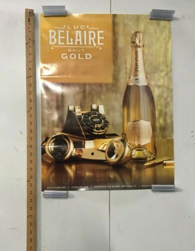 Luc Belaire Gold Brut Advertisement Poster 18x24 New York Champagne NOS Class