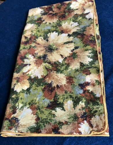 Tablecloth, Fall colors, Browns & Greens, 43 x 40 in, Cotton Blend