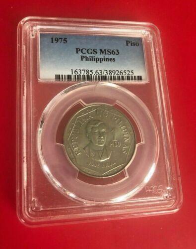 1979 Philippines One Piso (1 P), PCGS MS 63