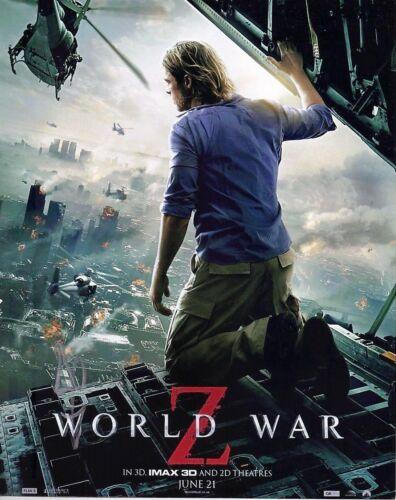 Brad Pitt Signed 10X8 Photo WORLD WAR Z AFTAL COA (7314)