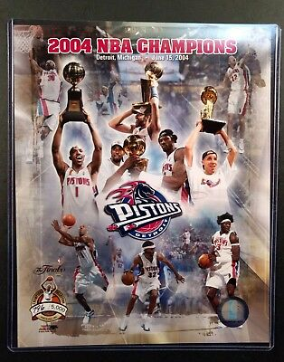 DETROIT PISTONS 2004 NBA CHAMPIONS Limited Edition 8X10 PHOTO