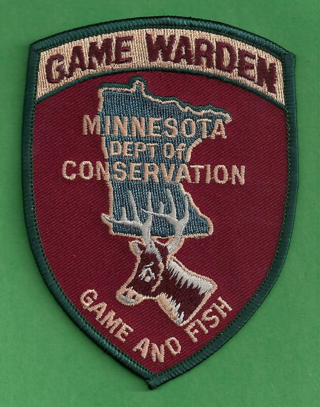 MINNESOTA STATE CONSERVATION GAME WARDEN ENFORCEMENT SHOULDER PATCH