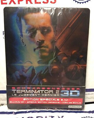 NEW TERMINATOR 2 ON 3D+2D BLU-RAY STEELBOOK! FRECH VERSION+REGION B! SEALED for sale  Phoenixville
