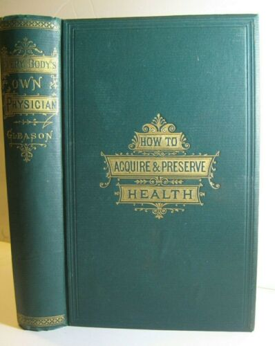 RARE1884✅ ANTIQUE DOCTOR BOOK_ PHYSICIAN_ANATOMY_BRAIN_EYE_SEX_DISEASE_250 PICTS