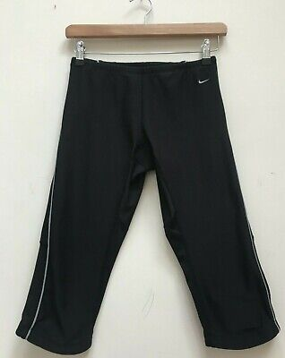 Womens NIKE DRI FIT Black Crop Leggings Running Gym Training Pants Size Small  for sale  Shipping to Nigeria